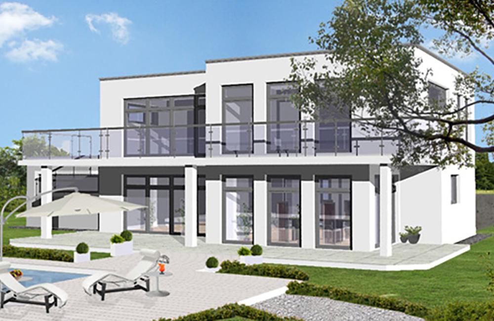 Flachdach Bella Haus Aus Ochsenhausen Beratung Planung Bauen