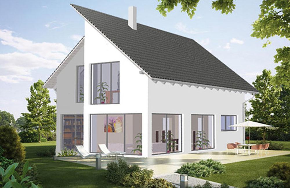 pultdach bella haus aus ochsenhausen beratung planung bauen. Black Bedroom Furniture Sets. Home Design Ideas