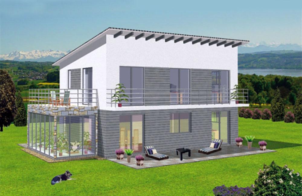 Pultdach Bella Haus Aus Ochsenhausen Beratung Planung Bauen